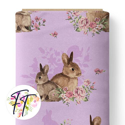 150 - Floral Bunny Mauve