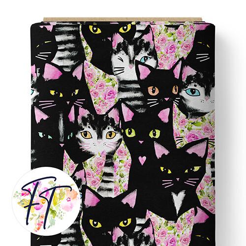 150 - Black Cat Floral
