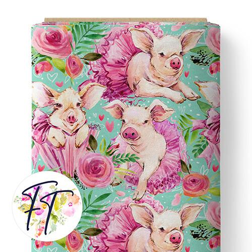 150 - Pretty Pigs Aqua