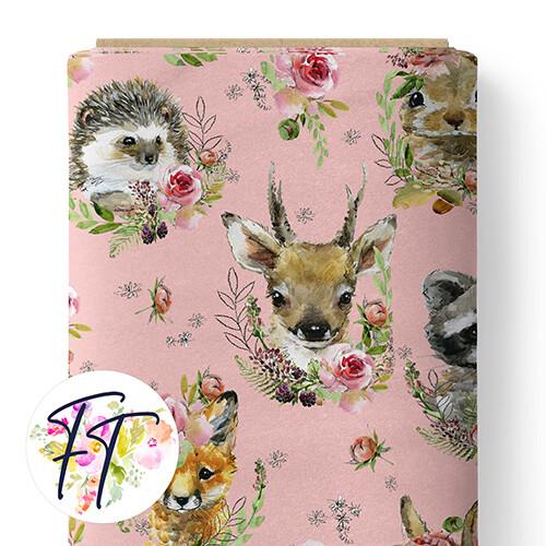 150 - Cute Animals Pink