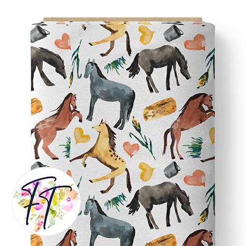 150 - I Love Horses White