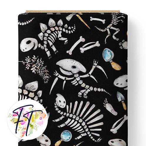 150 - Dino Skull Black