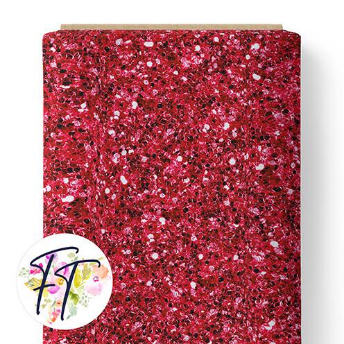150 - Faux Glitter Red
