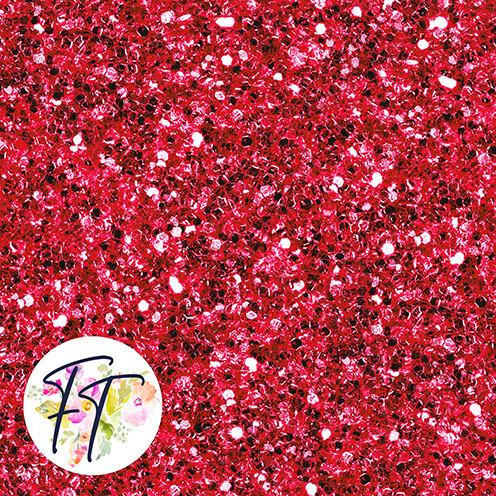 KNIT220 - Faux Glitter Red