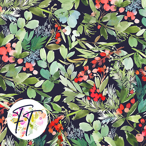 KNIT220 - Noel Floral Bliss Dark