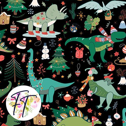 KNIT220 - Merry Dino Black