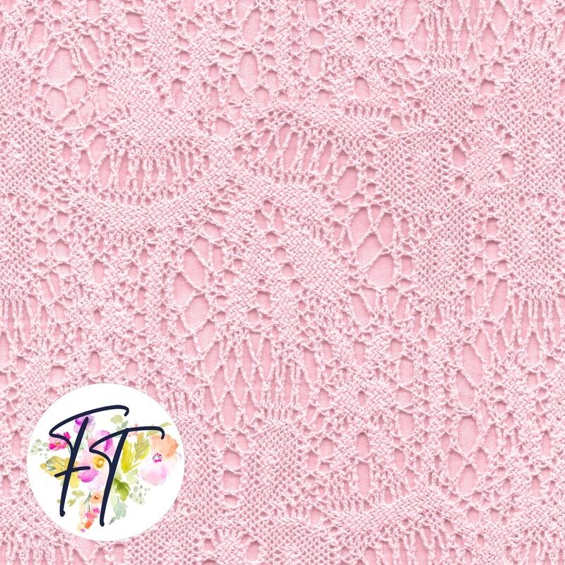 KNIT220 - Faux Lace Pink