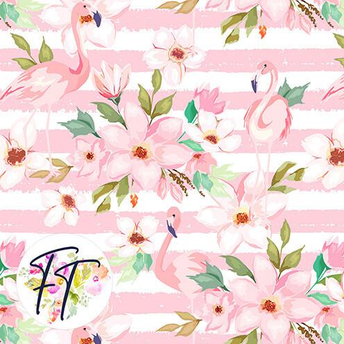 KNIT220 - Flamingo Stripe