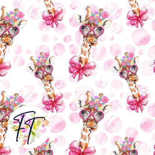 KNIT220 - Giraffe Bow