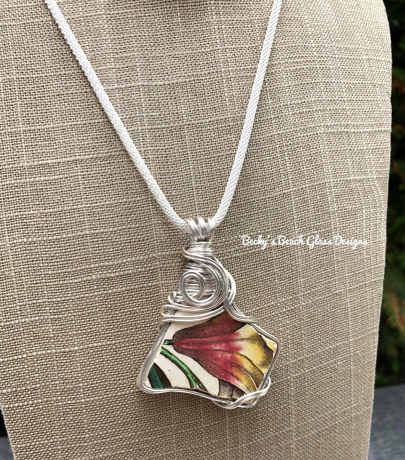 English Sea Pottery Necklace