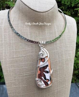 Ikaros Greek Sea Pottery Necklace