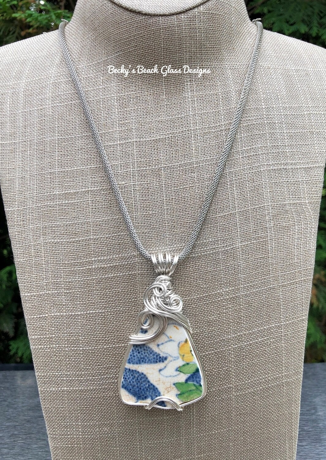 English Sea Pottery Necklace