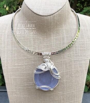 RARE Neodymium Sea Glass Pendant Necklace