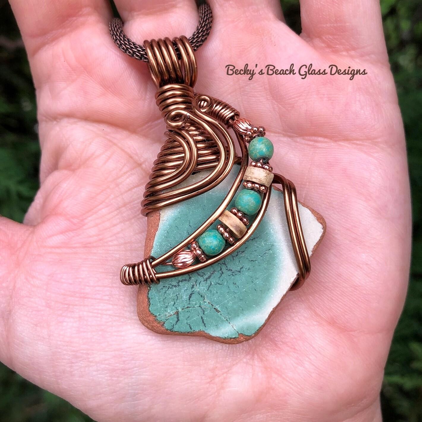 Italian Sea Pottery Terra Cotta Necklace