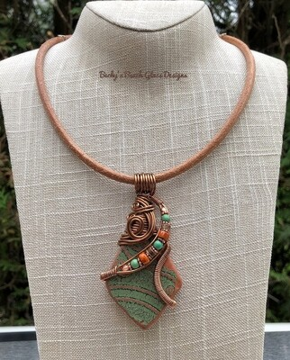 Italian Sea Pottery Terra Cotta Necklace