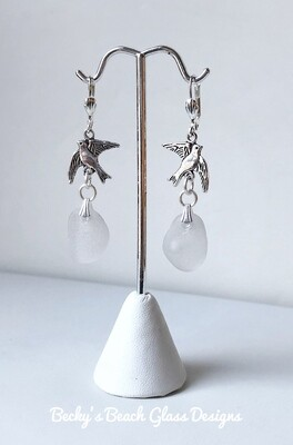Doves Sea Glass Earrings
