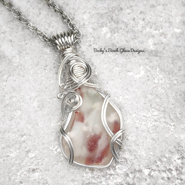English Art Glass/Sea Glass Necklace