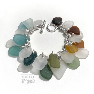 Fully Loaded Seaglass Cha Cha Bracelet