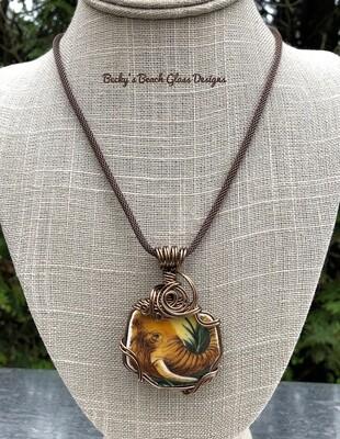 Elephant Pottery Necklace