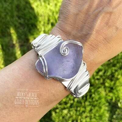Magical Neodymium Bon Fire Sea Glass Cuff Bracelet