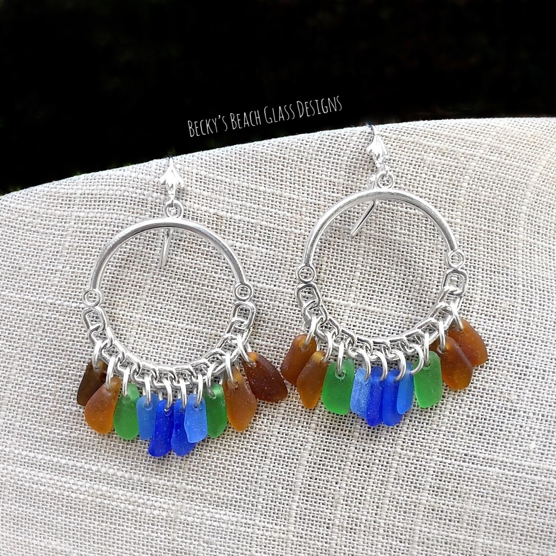 Sea Glass Rainbow Earrings