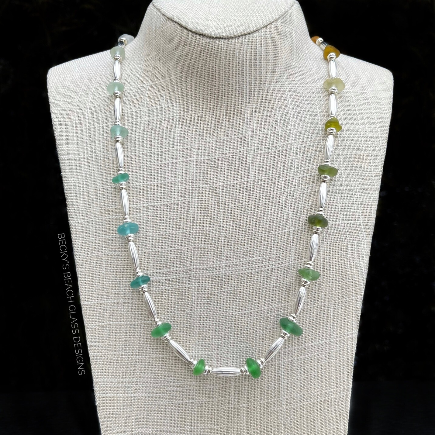 Multicolored Sea Glass Necklace