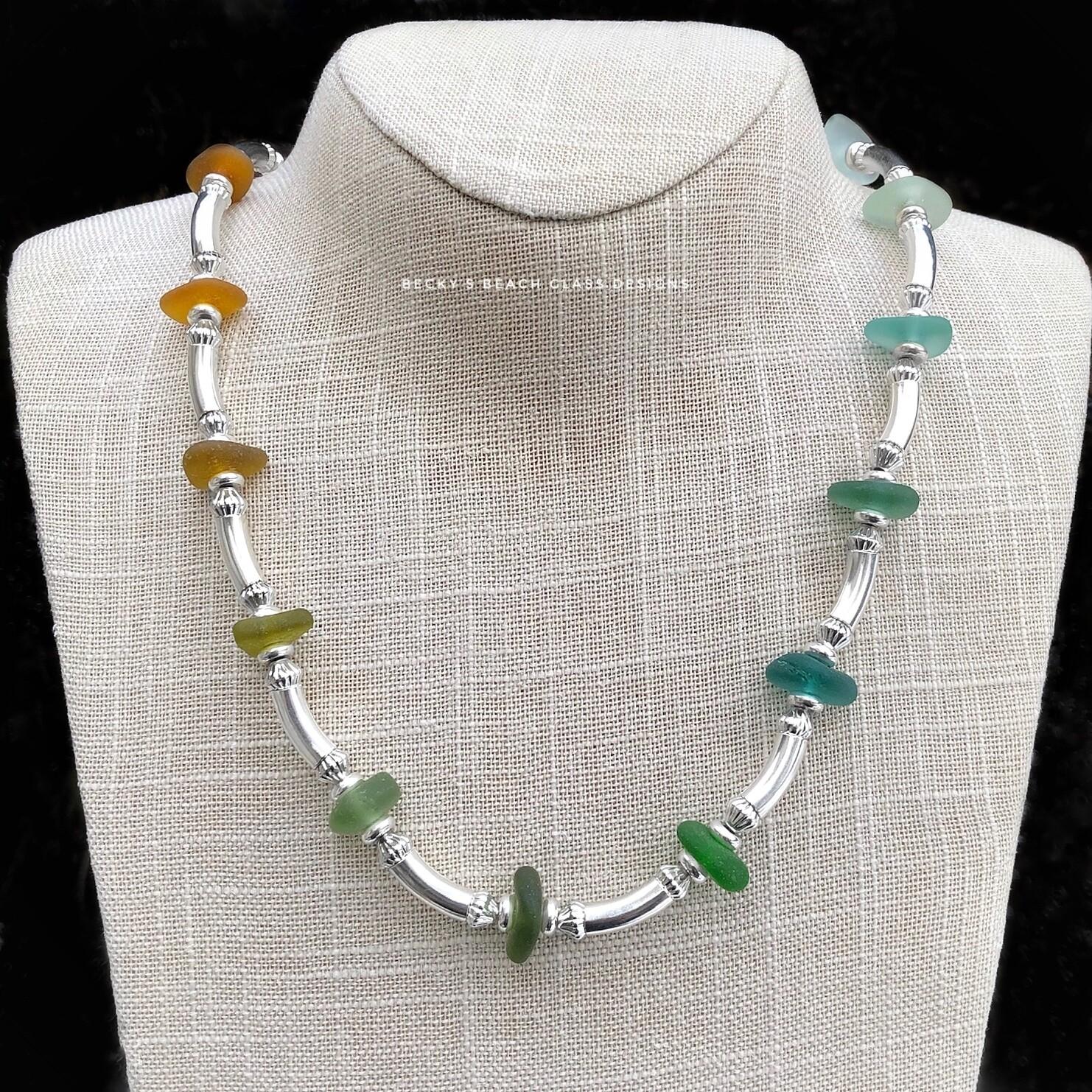 Multicolored Sea Glass Necklace