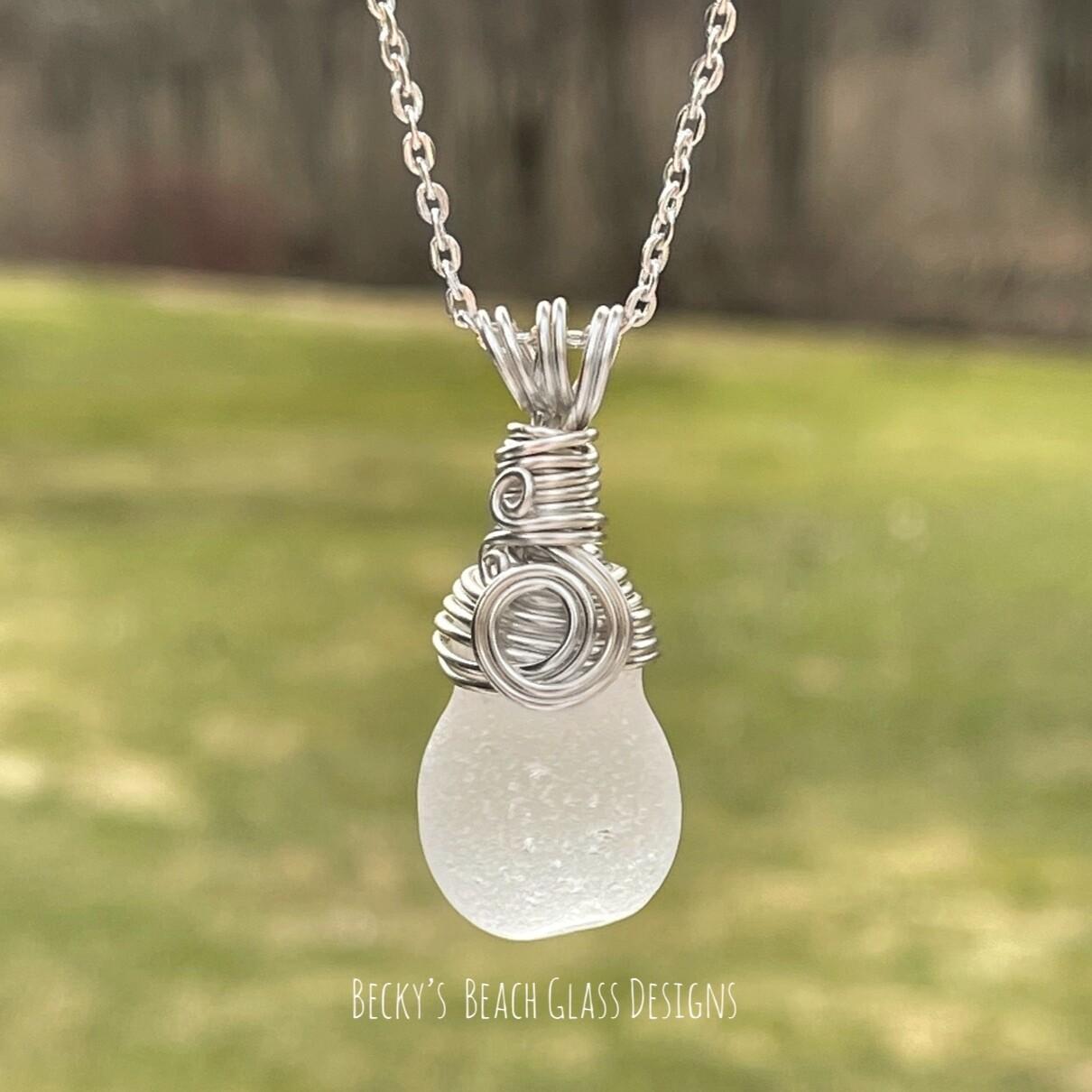 Perfect Plop Sea Glass Pendant Necklace