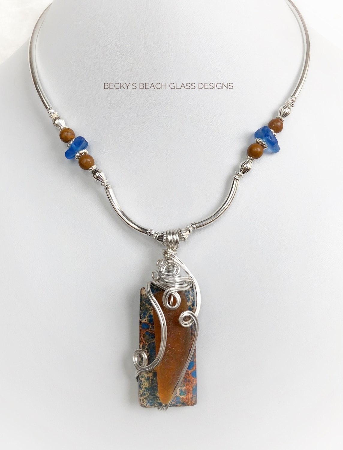 Sea Glass & Gemstone Combo Necklace