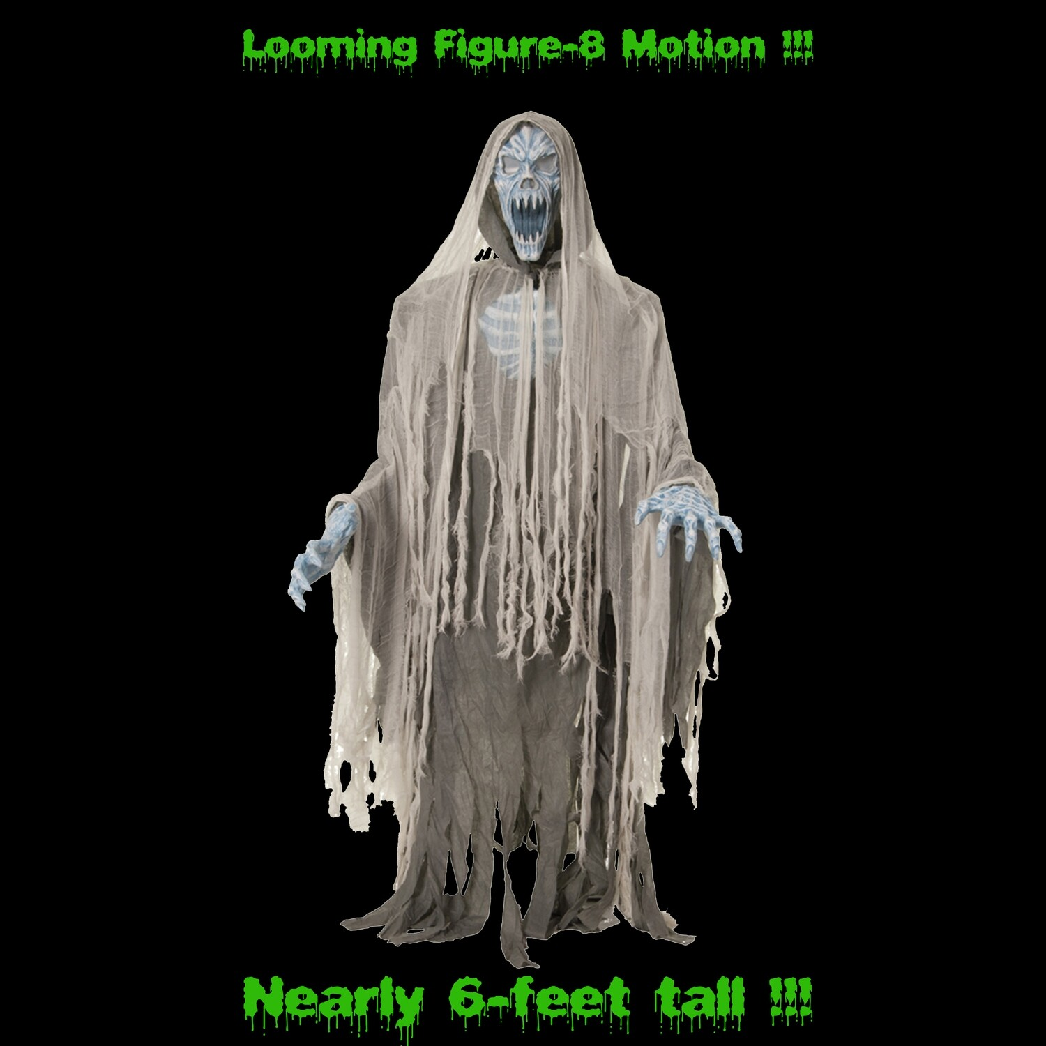 Life Size Animated EVIL ENTITY REAPER ZOMBIE Haunted House