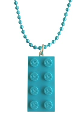​Turquoise Blue LEGO® brick 2x4 on a 24