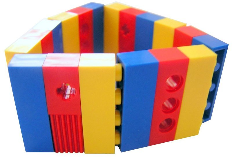 ​Collectible bracelet Model 7 - made from LEGO® bricks on stretchy cords - CIRCUS