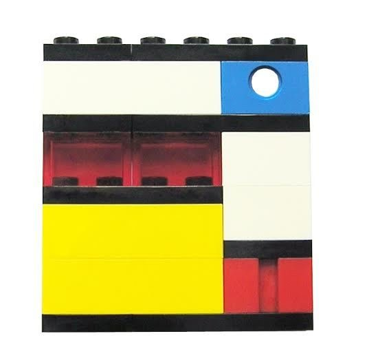 ​Collectible brooch pin Model 3 - made from LEGO® bricks – MONDRIAN