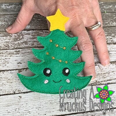 Christmas Tree Finger Friend