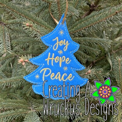 Joy Hope Peace Ornament