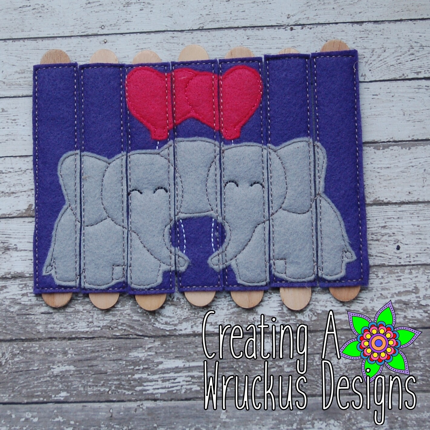 Elephant Love Stick Puzzle