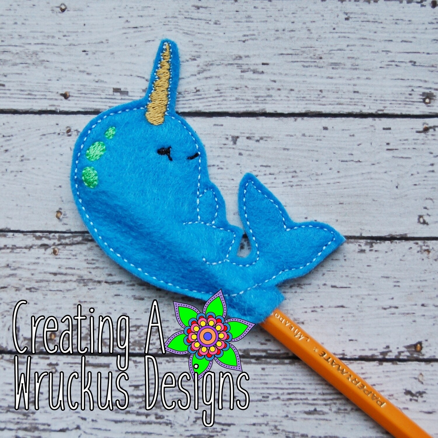 Narwhal Pencil Topper