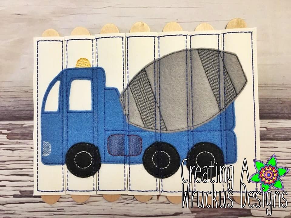 Cement Truck Stick Puzzle
