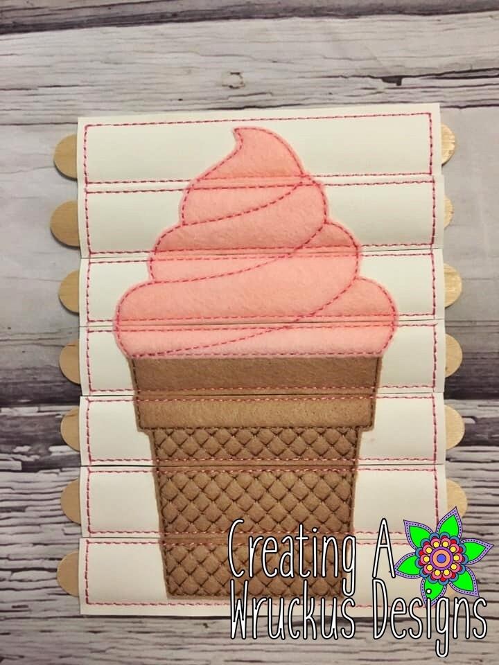 Ice Cream Cone Stick Puzzle