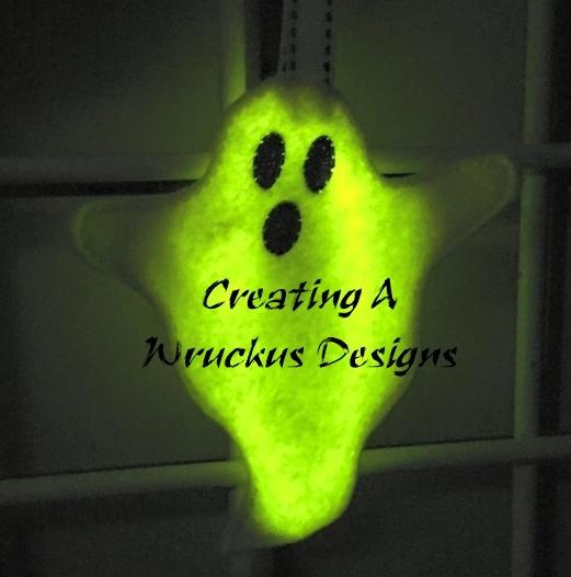 Spooky Ghost Glow Ornament