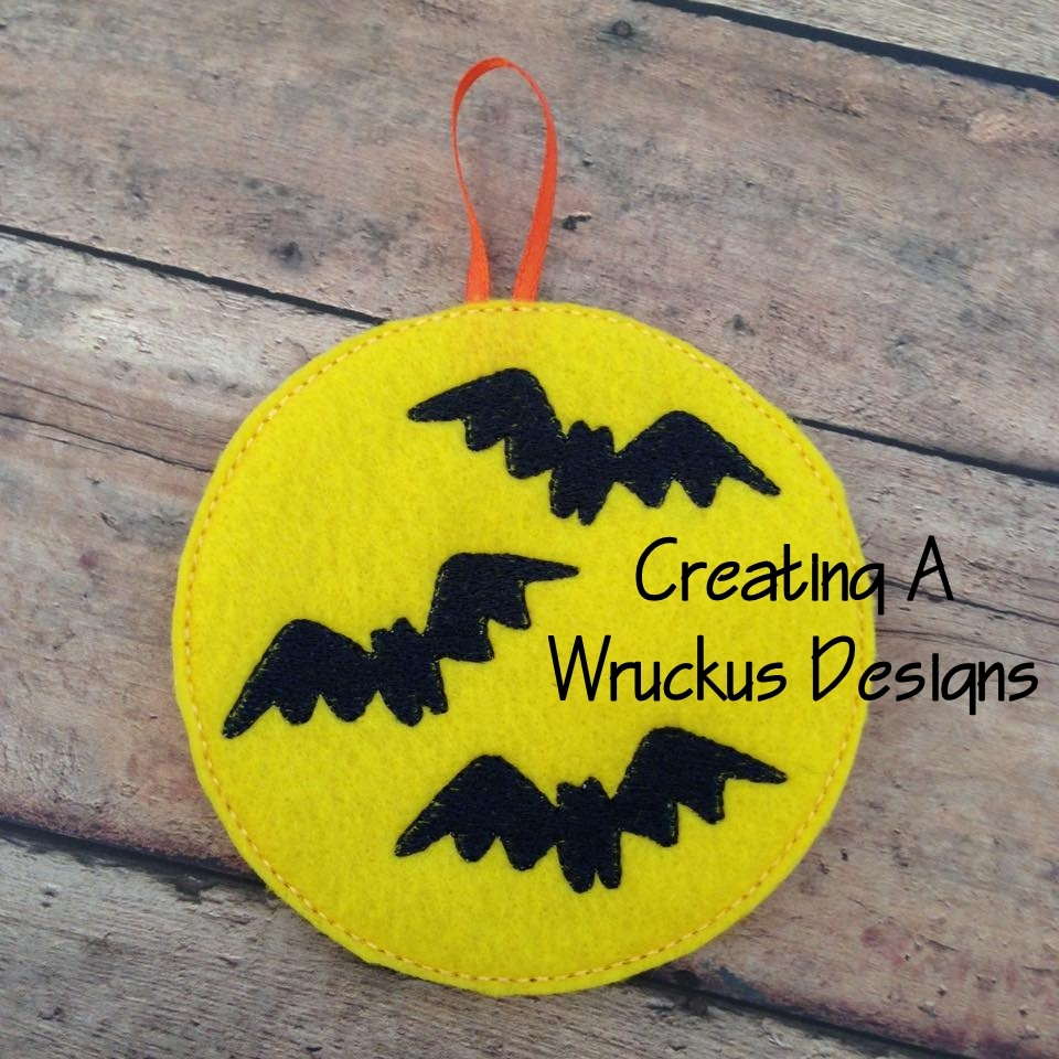 Bats & Moon Glow Ornament