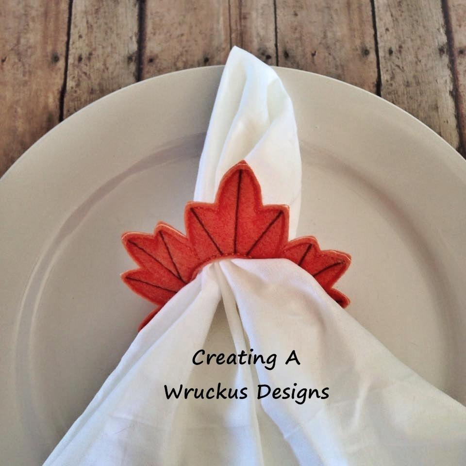 Maple Leaf Napkin Ring