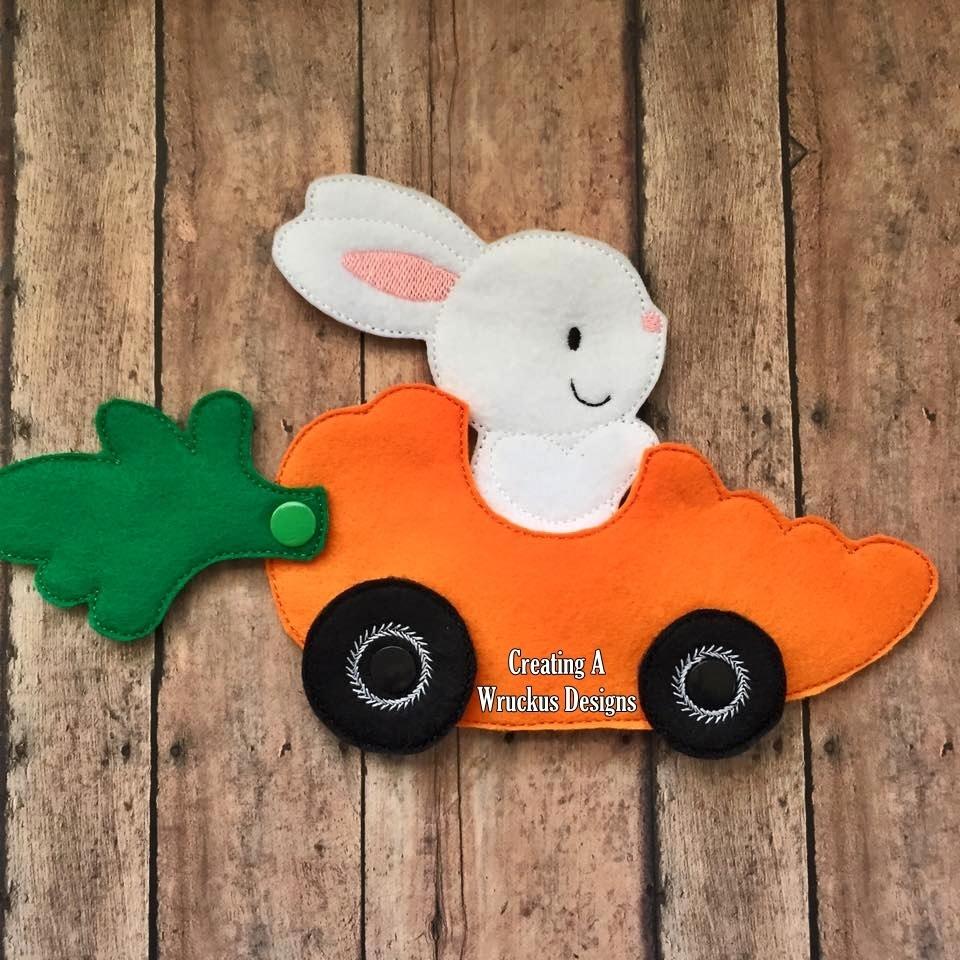 Bunny Car Finger Puppet