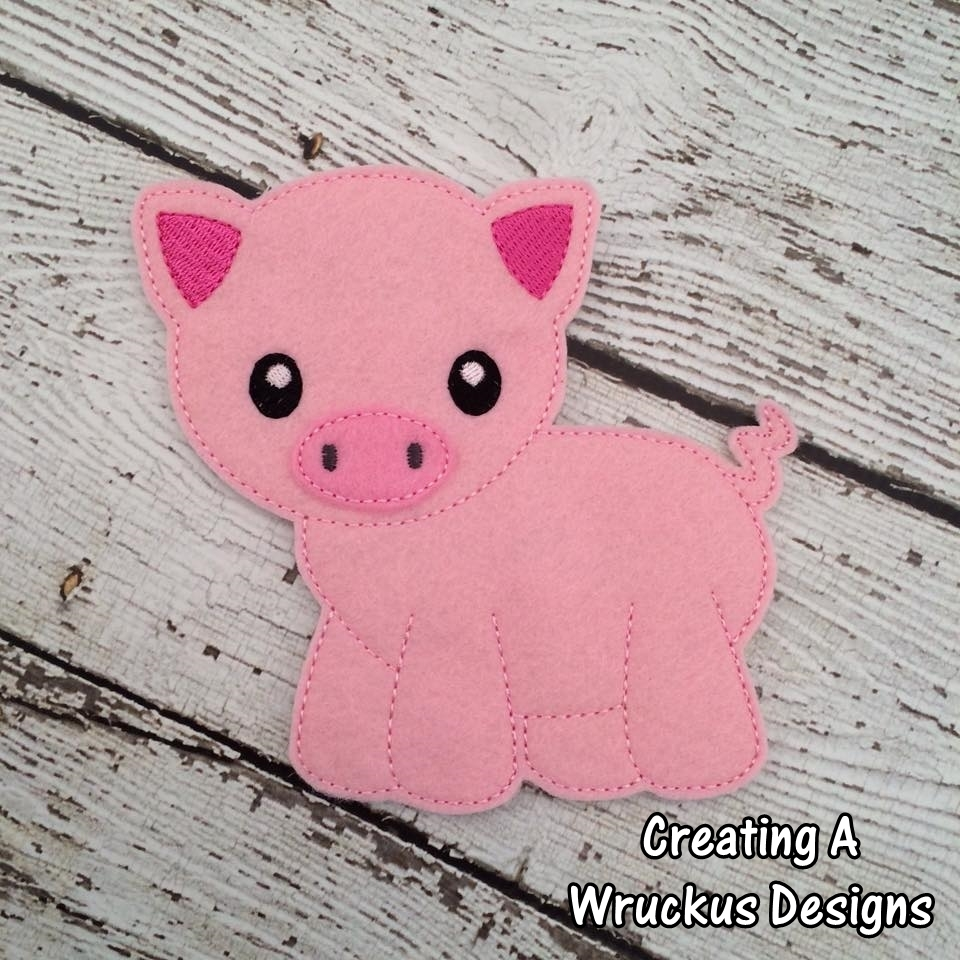 P is for  Pig Super Sized Feltie