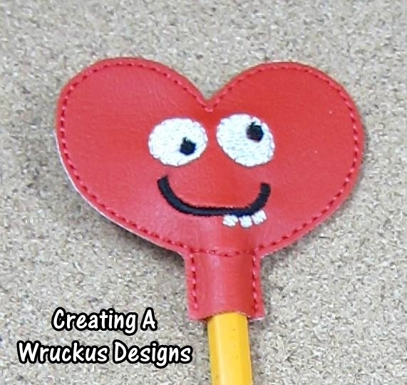 Goofy Heart Pencil Topper