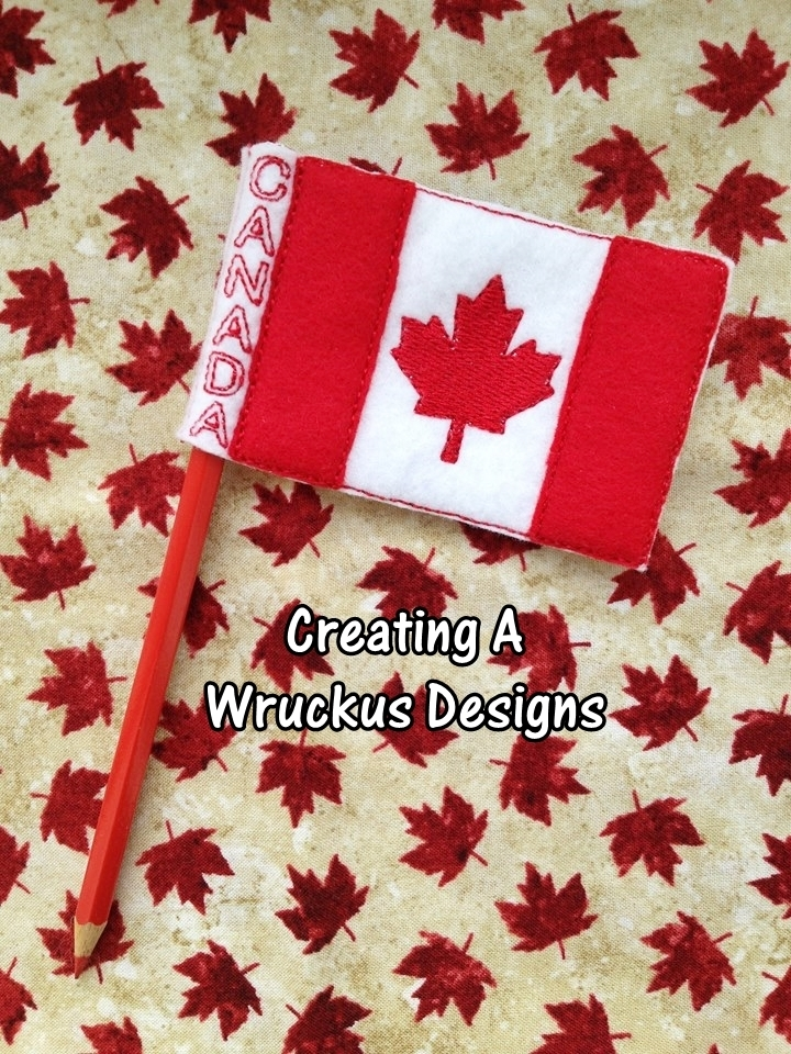 Canadian Flag Pencil Topper