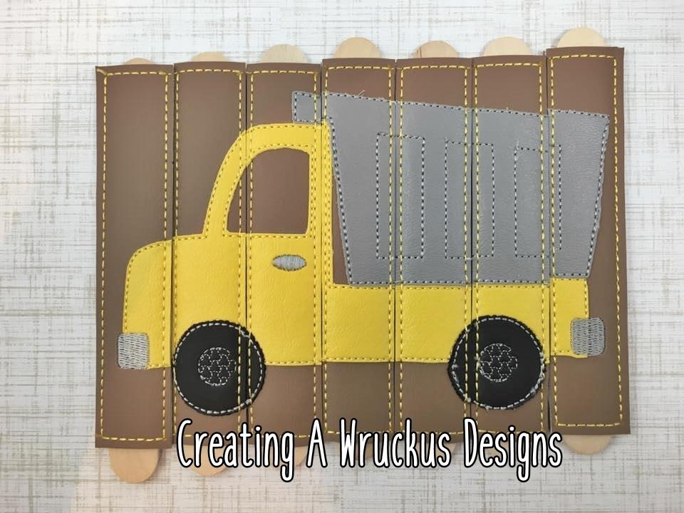 Dump truck Stick Puzzle