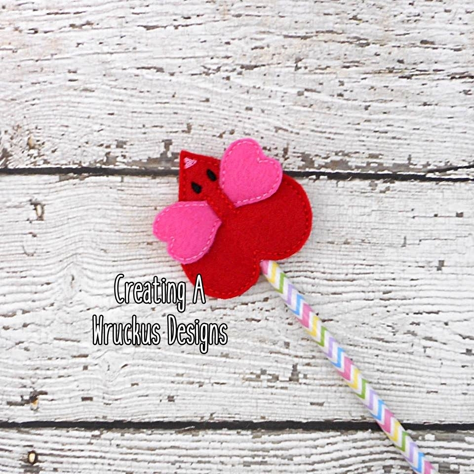Heart Mouse Pencil Topper
