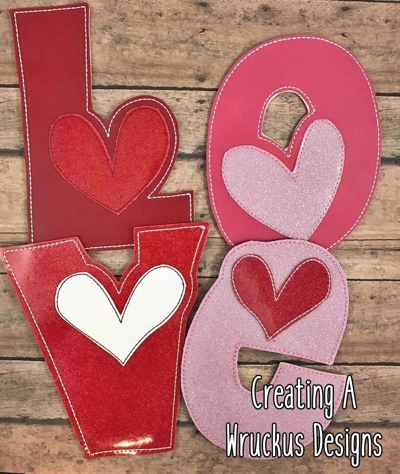 LOVE Heart Letters