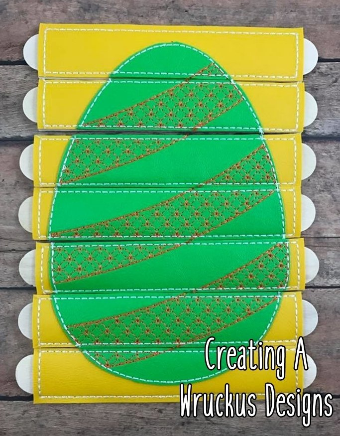 Egg Stripes Stick Puzzle